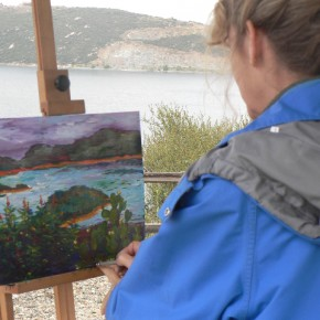 Painting at Olivenhain Reservoir