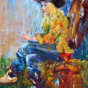 Cowgirl Contemplating