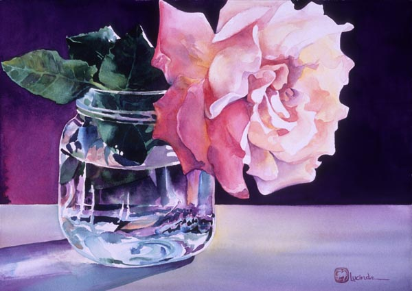 Flower in a Jar by Lucinda Hayes