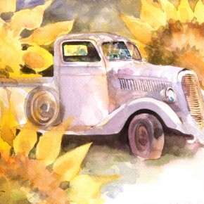 Truck in Sunflowers